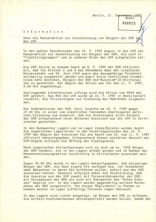 Info Auschleußung DDR-Bürger 1
